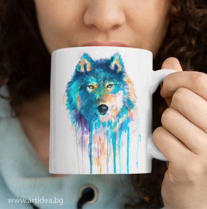 Чаша син вълк – художник Славейка Аладжова