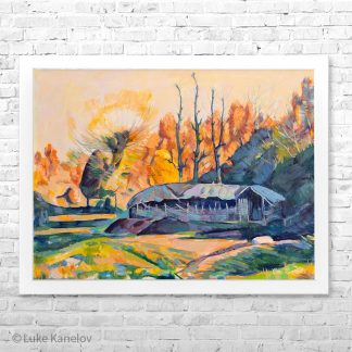 картина пейзаж златна есен