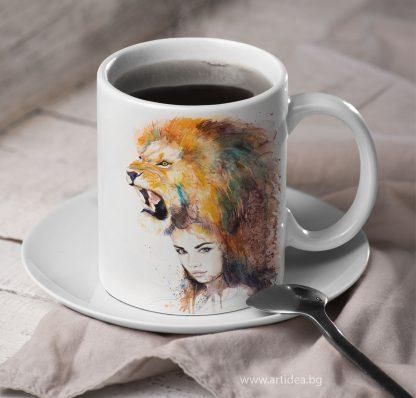 Чаша Жена лъв – художник Славейка Аладжова