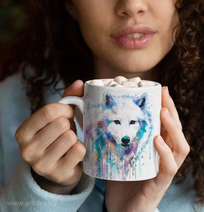 Чаша Бял вълк – художник Славейка Аладжова