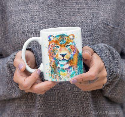 чаша леопард художник Славейка Аладжова