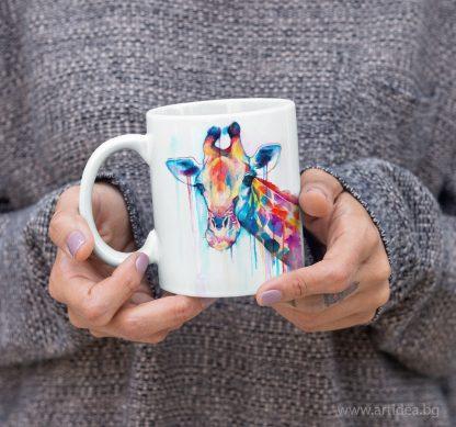 Чаша Жираф – художник Славейка Аладжова