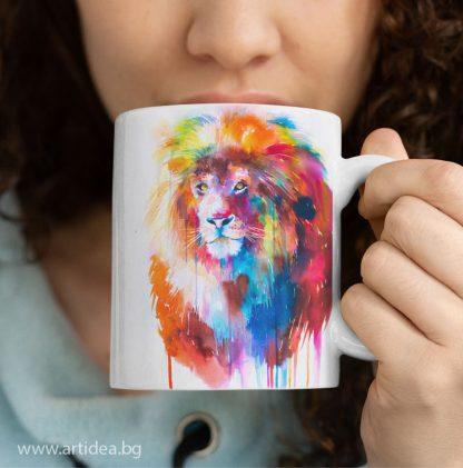 Чаша лъв – художник Славейка Аладжова