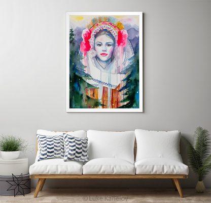 Картина с пиринска носия, мома