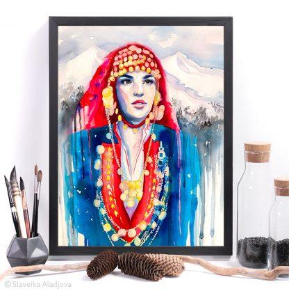 Пиринска картина, традиционна мома
