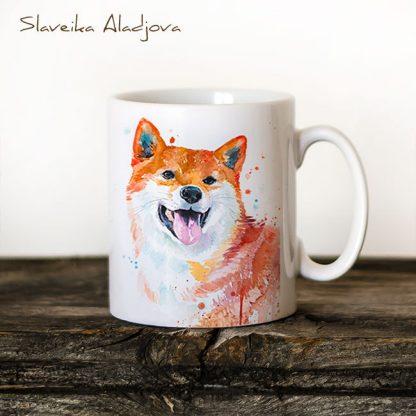 Чаша акита - художник Славейка Аладжова