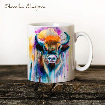 Чаша бизон - художник Славейка Аладжова