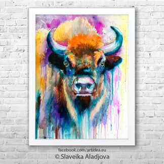 Картина бизон