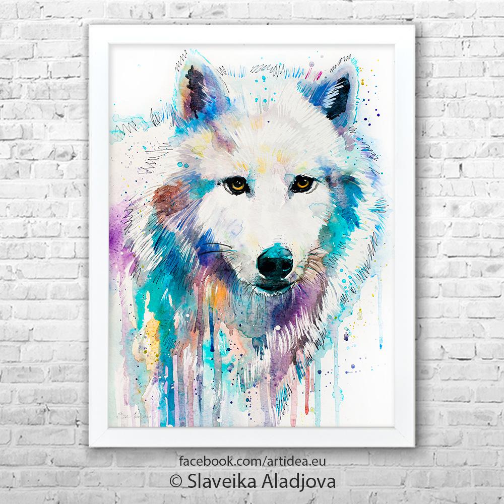 Картина Бял вълк