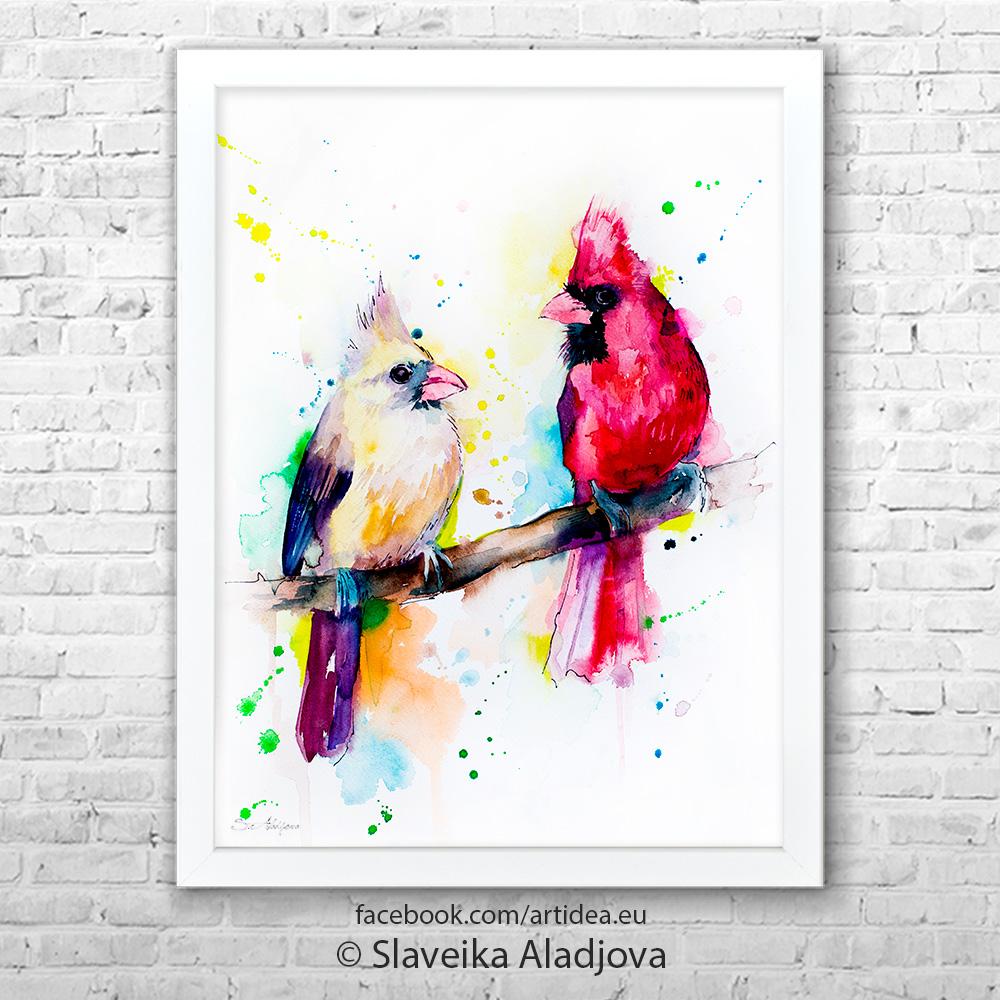 Картина на кардинали