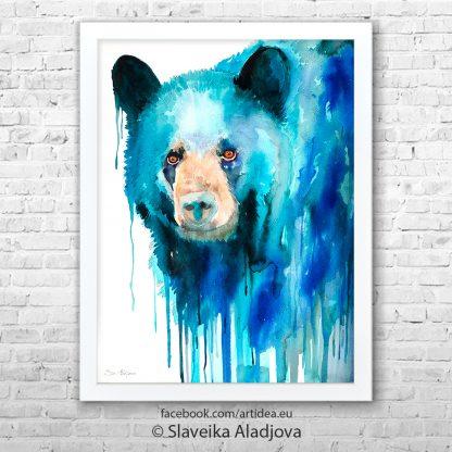 Картина черна мечка