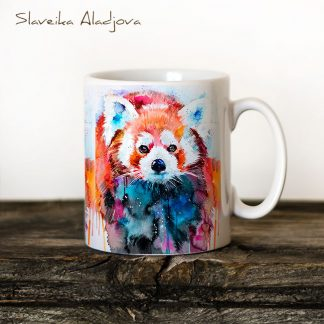 Чаша Червена панда - художник Славейка Аладжова