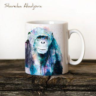 Чаша Шимпанзе 2 - художник Славейка Аладжова