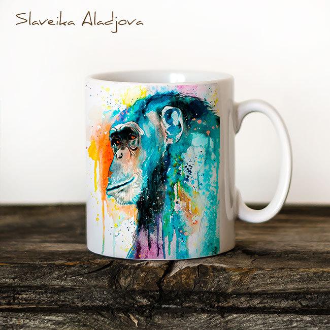 Чаша Шимпанзе 3 - художник Славейка Аладжова
