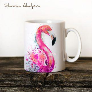 Чаша Фламинго - художник Славейка Аладжова