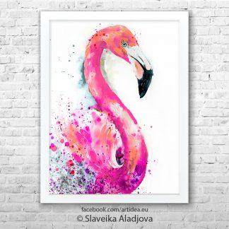Картина фламинго 2