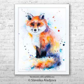Картина на лисица