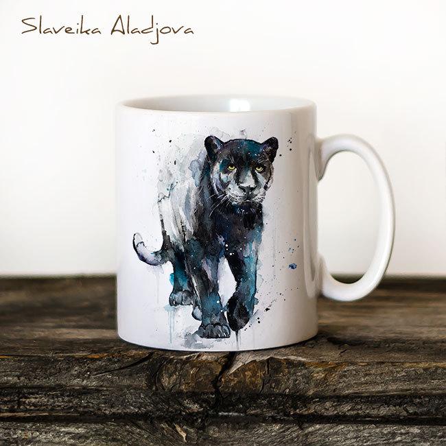 Чаша - черна пантера