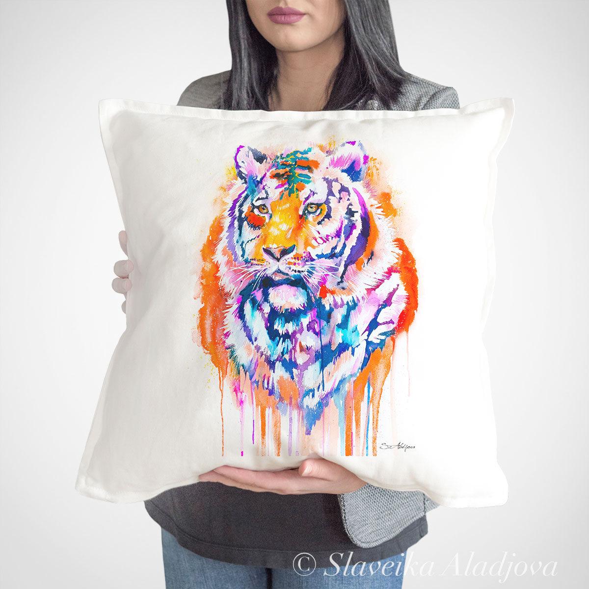 възглавница с тигър