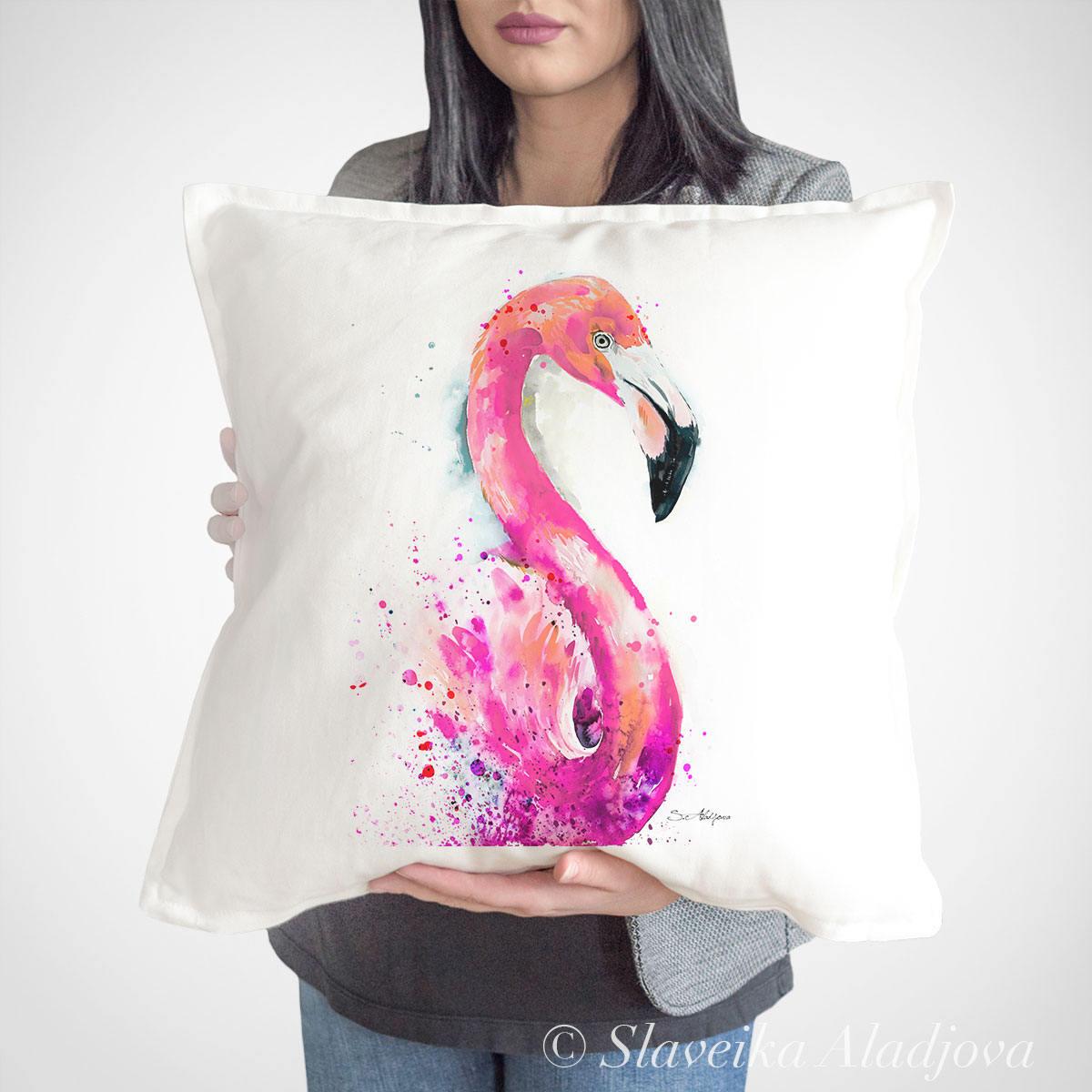 възглавница с фламинго
