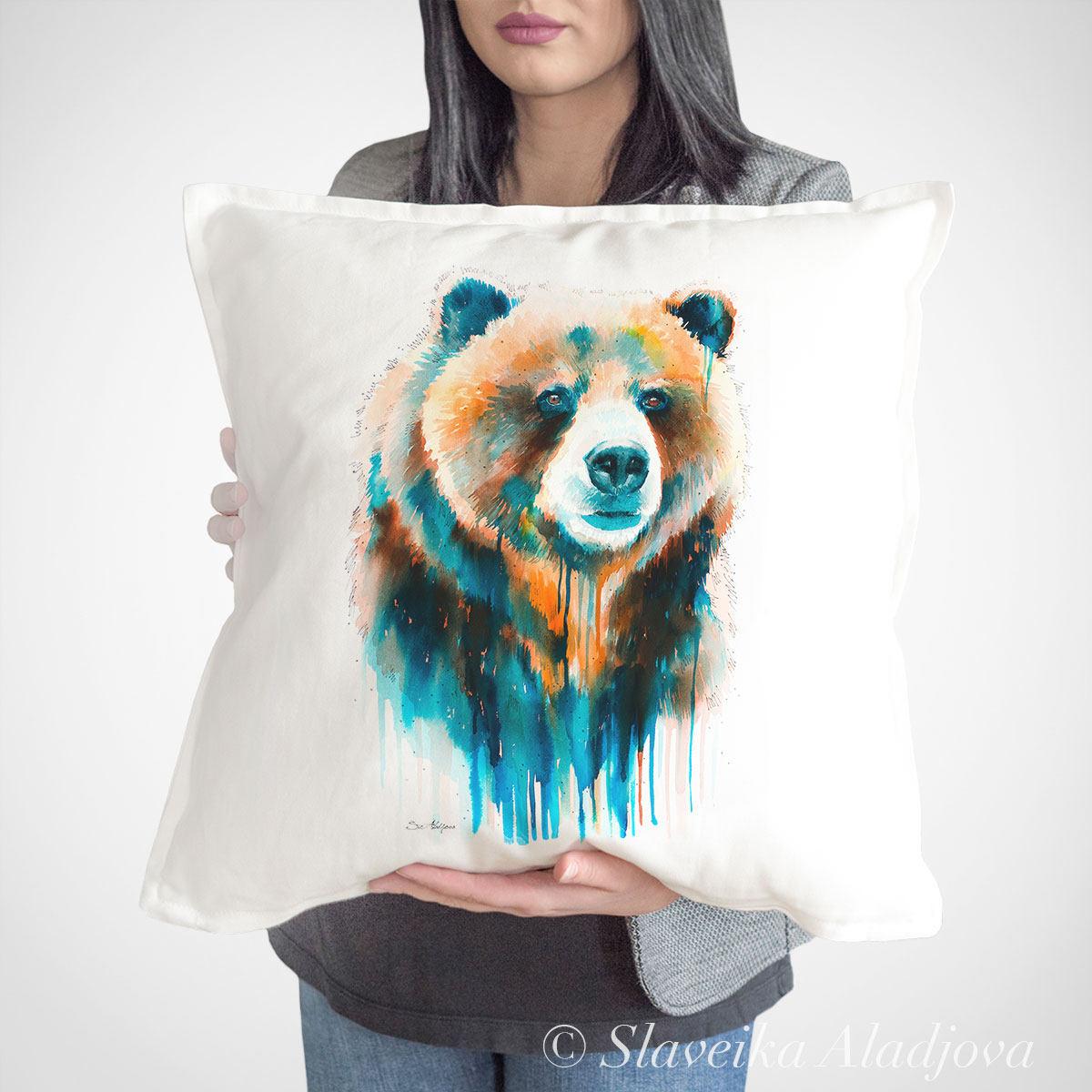възглавница мечка Гризли