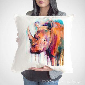 възглавница с носорог