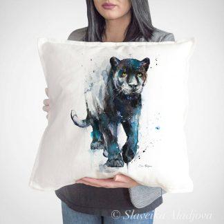 Възглавница черна пантера