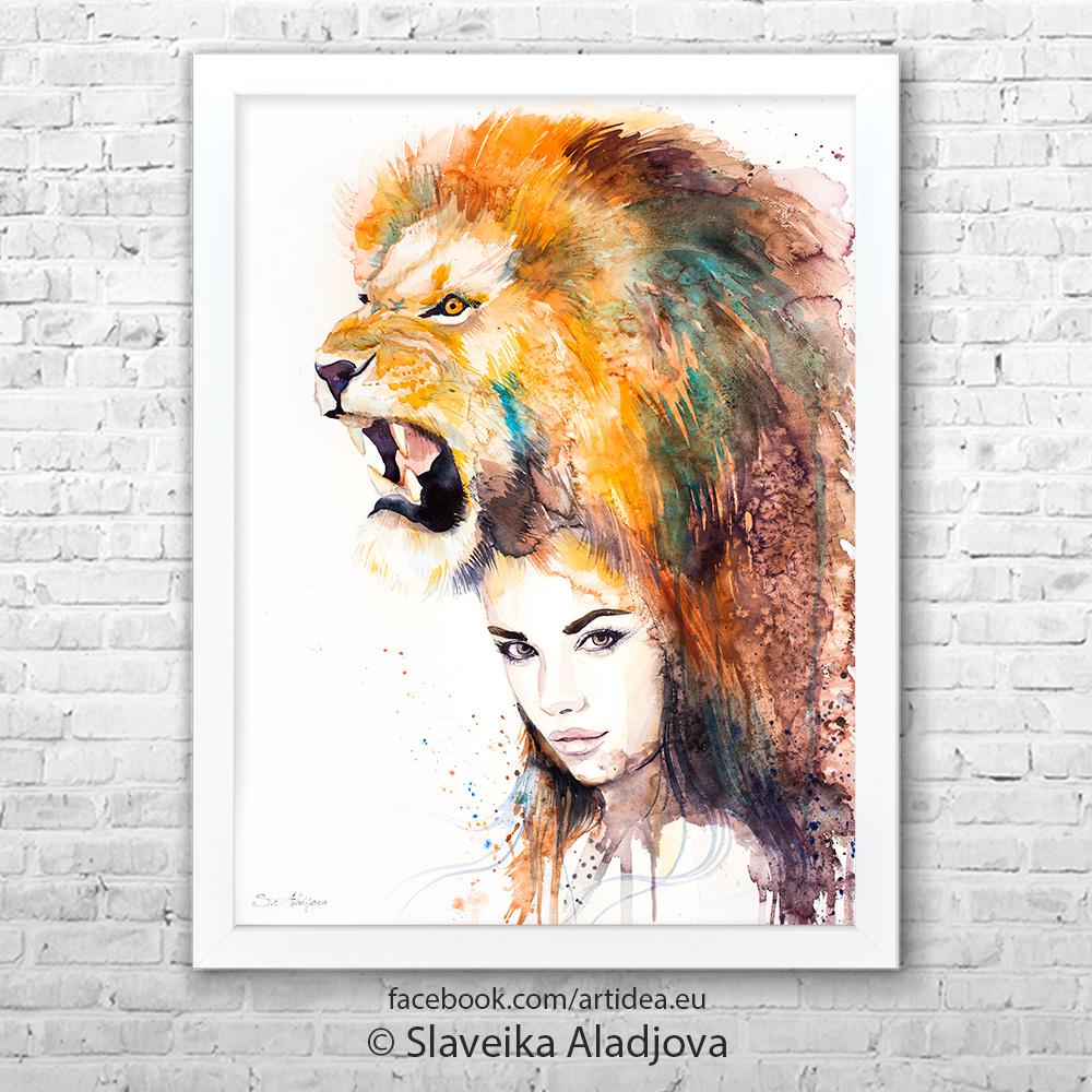 Жена-лъв