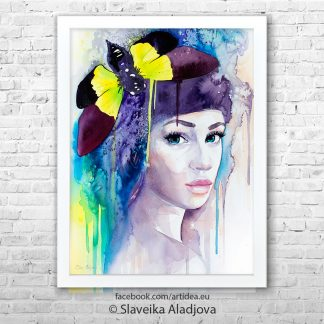 Картина жена-пеперуда