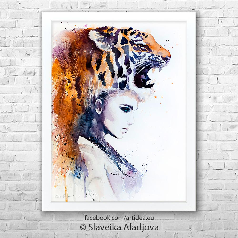 Картина жена-тигър