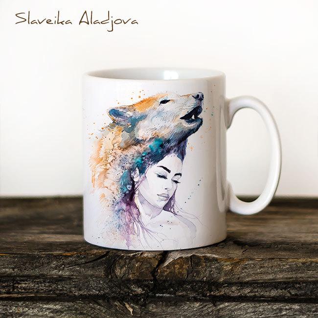 Чаша Жена вълк - художник Славейка Аладжова