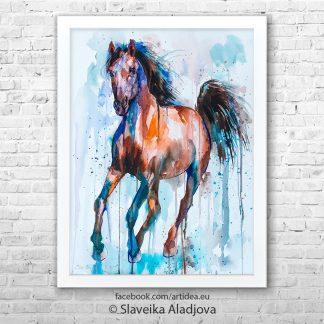 Картина кафяв кон