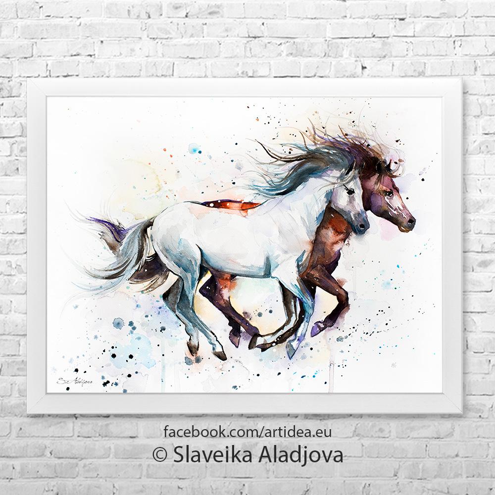 Картина два коня