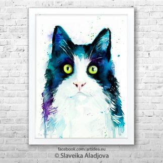 Картина котка