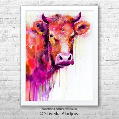 Картина крава