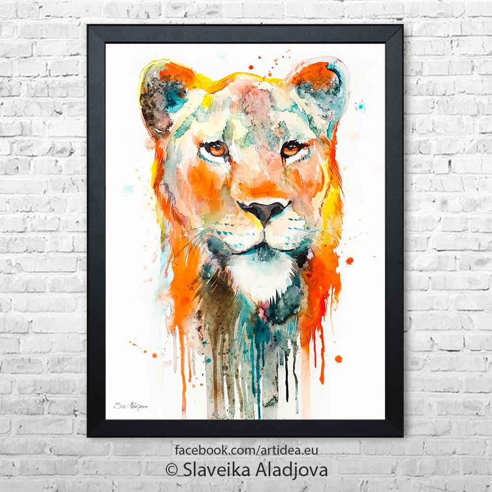 Картина на лъвица