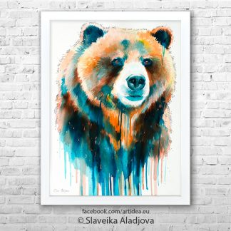 Картина мечка гризли