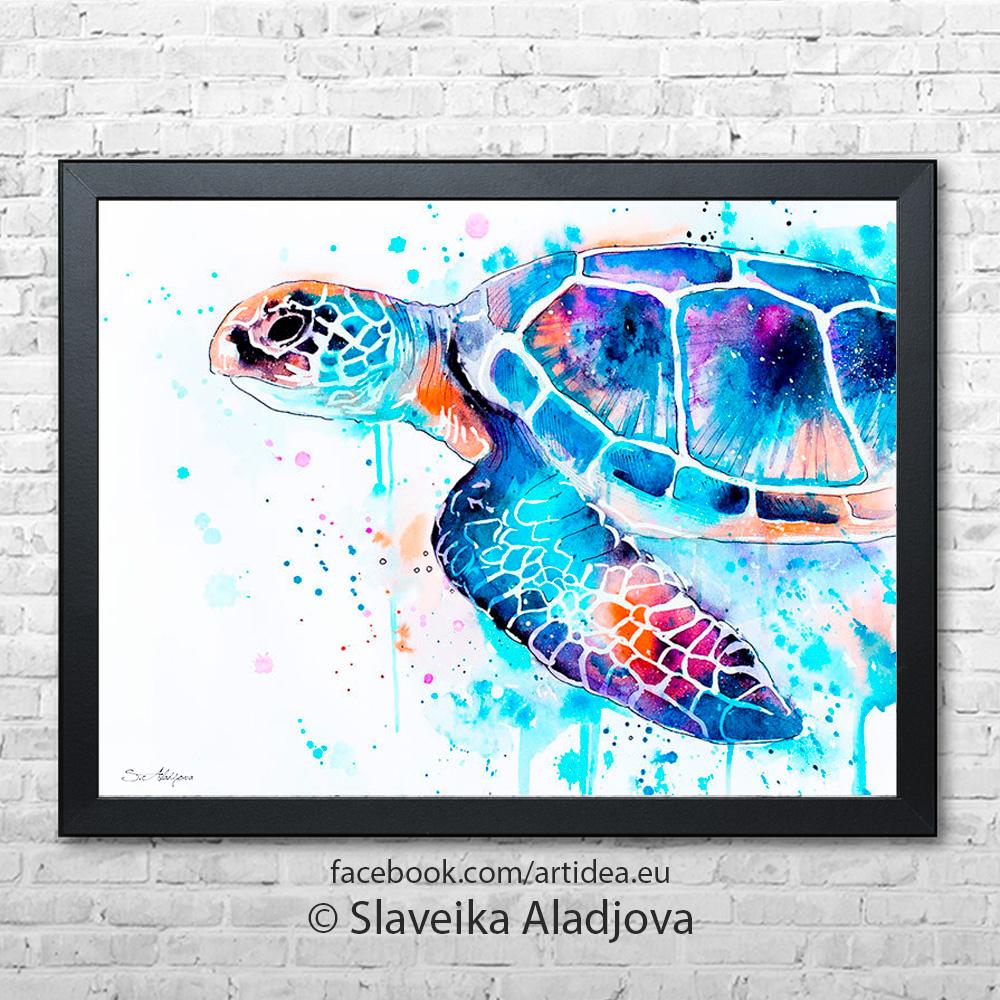 морска костенурка картина