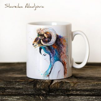Чаша Жена муфлон - художник Славейка Аладжова