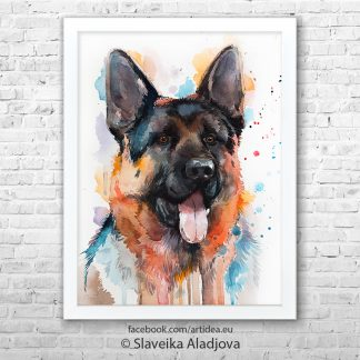Картина с куче порода немска овчарка