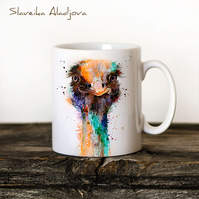 Чаша Щраус 2 - художник Славейка Аладжова
