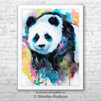 Картина синя панда 2