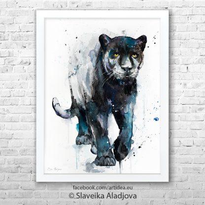 Картина черна пантера