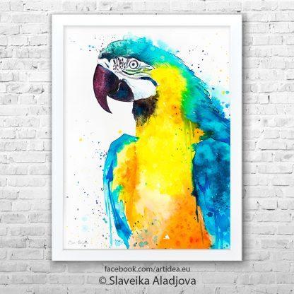 Картина жълт папагал