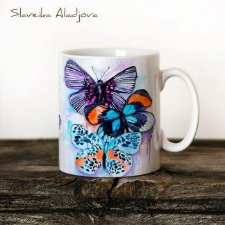 Чаша Пеперуди 3 - художник Славейка Аладжова