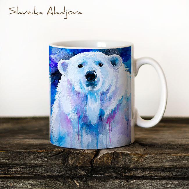 Чаша Полярна мечка - художник Славейка Аладжова