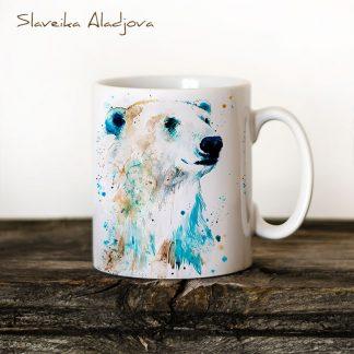 Чаша Полярна мечка 2 - художник Славейка Аладжова