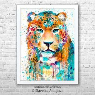 Картина на леопард