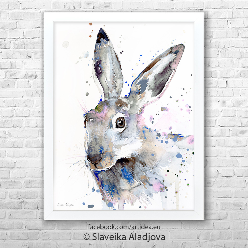 Картина сив заек