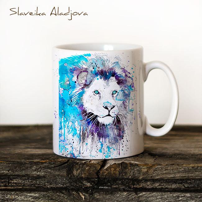 Чаша Син лъв - художник Славейка Аладжова